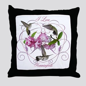 I love hummingbirds 2 Throw Pillow